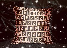 💎Fendi Satin Silk Cushion Cover 18x18, Decor Soft Furnish