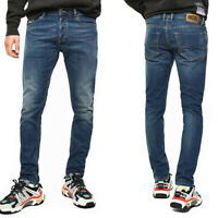 Diesel Mens Slim Tapered Fit Stretch Jeans Medium Blue Denim | Tepphar X 083AA