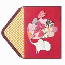 New Sealed Papyrus Valentine's Day Card Elephant with Hearts & Music collage