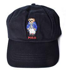 POLO RALPH LAUREN Ski Bear Baseball Hat/Cap Black One Size >NEW<