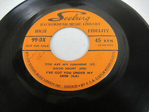 """Seeburg Background Music Library You Are My Sunshine / I Wish 7"""" 45 PROMO EP 99D"""