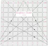 """Crafters Dream Transparent Quilting Patchwork Ruler Template 9.5"""" x 9.5"""" CD9595"""