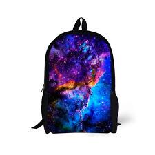 17 inch Blue Galaxy Backpack Children Large School Bag Durable Bookbag Boys Girl