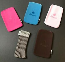 HOT PINK BROWN GREY SOCK > Soft Suede Pouch Case for iPhone 2G 3G 3Gs iPod