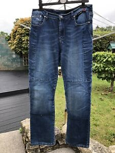 MOTORCYCLE ROUTE ONE LADIES REINFORCED JEANS UK SIZE 12 REGULAR