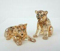 Swarovski Crystal Creation 5506813 SCS Amur Leopard Cubs Signed RRP $419