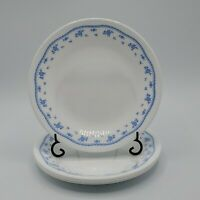"Set of 4 VTG Corelle Morning Blue Bread & Butter Plates 6 3/4""  Ribbon Floral"