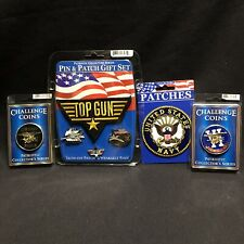 US Navy Top Gun Navy Seals Challenge Coins Pins Patches New Collectors Team Six