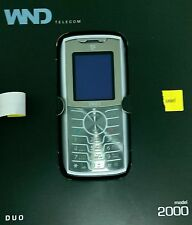 WND Telecom Wind DUO 2000 - DUAL FACE Silver black (Unlocked Triband) GSM Phone.