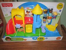 Fisher Price Little People Playground gift set DVD 5 Figures Fence Flag NEW