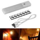 6LED USB Rechargeable Wireless Motion Sensor Nightlight Closet Wall Lamp Light