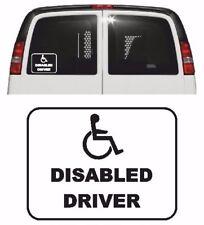 DISABLED DRIVER Vinyl Car Sticker, Window/Exterior 11 Colours, Wheelchair Access
