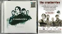 THE CRANBERRIES Roses 2011 MALAYSIA CD + LIVE IN MALAYSIA LEAFLET RARE FREE SHIP