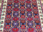 "5'4""x4' Finest Authentic Dense Excellent Floral plush handmade wool Oriental rug"