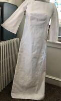 Vtg 60s Classic Mod Renaissance Hippie Empire Wedding Dress 34 32 38 Pristine ❤️