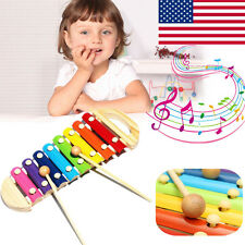 Musical Toys Xylophone Piano Wooden Instrument Educational Baby Child Toys US