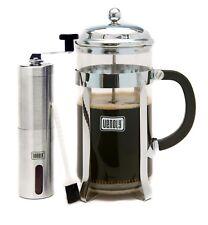French Press Coffee Maker & Burr Grinder Bundle, Double Filter...