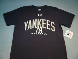 Under Armour New York Yankees Arch BRAND NEW shirt MLB Baseball NY UA Loose Fit