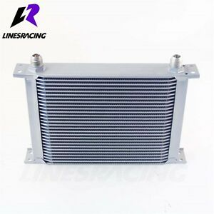 28 Row 10AN Universal Engine Transmission 248mm Oil Cooler Kit Silver FITS Ford