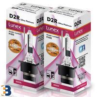 2 x D2R LUNEX Genuine XENON BULB  P32d-3 35W Original 8000K Ultra Platinum +50%