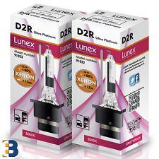 2 x D2R Genuine LUNEX XENON BULB  P32d-3 35W Original 8000K Ultra Platinum +50%