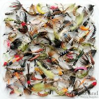 Assortment of Mixed Nymph Flies for Trout, Grayling Fly Fishing 8 10 12 14 16 18