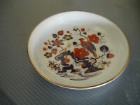"Aynsley Bone China Trinket Dish 4 3/8"" Parrot Floral Design Made in England"