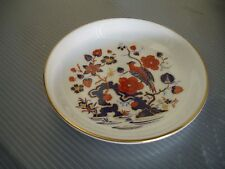 """Aynsley Bone China Trinket Dish 4 3/8"""" Parrot Floral Design Made in England"""
