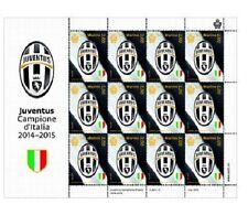 Foglietto JUVE JUVENTUS Campione D'Italia 2014/2015 Scudetto Francobollo 2015
