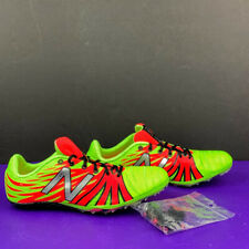 NEW BALANCE SD100YP v1 Lime Green Flame Sprint Track Spikes Shoes Men's Sz 8 NEW