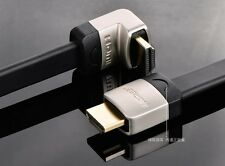 Right Angle HDMI flat cable 3M 9ft with Ethernet Support 3D 2Kx4K HD 1080P Black