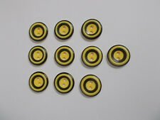 10 x Golden Yellow Buttons with Black Band Detail 2 Hole Baby Buttons 15mm