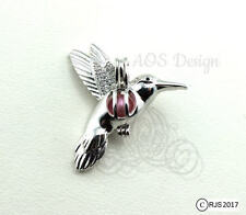 Pick A Pearl Cage 925 Silver Hummingbird Bird Flying Locket Beads CHARM ONLY