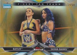 2020 Finest WWE Finest Tag Teams Gold Refractors #TT7 Sasha Banks/Bayley