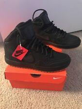 Men's Nike Son of Force Mid Winter Shoes Basketball Size US 7 UK 6 Black
