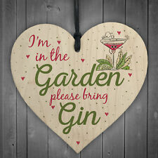 In The Garden Bring Gin Wall Garden Decor Shed Plaque Alcohol Sign Friendship