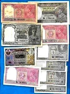 British Pakistan, British India, Hyderabad Rare Banknotes - Choose Your Note