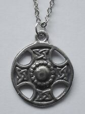 Chain Necklace #2357 Pewter CELTIC CROSS CIRCLE (22mm x 18mm)
