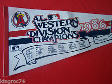 "Very Good - 1986 -American League Western Champs - ""Anaheim Angels"" - Pennant"