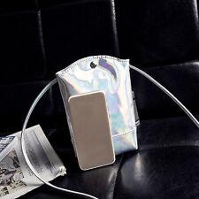 Laser Hologram Bag Wallet Purse PU Coin Cell Phone Mini Cross-body Shoulder Bags