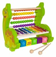 BABY WOODEN ACTIVITY ABACUS TOY SMALL PLAY CENTRE CHILDREN LEARING BEAD MAZE