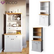 VICCO Küchenvitrine CAMBRIDGE Vitrine Buffet Küchenregal Landhaus Eiche 80 cm