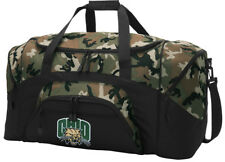Ohio University Duffel BAG CAMO Gym Bags Suitcase LOADED w/ POCKETS