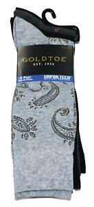 Gold Toe 4-Pair Pack Vapor-Tech Men's Dress Socks One Size Fits Most NWT