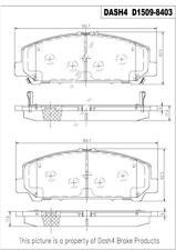Disc Brake Pad Set-Ceramic Pads Front,Rear Pronto PCD1509