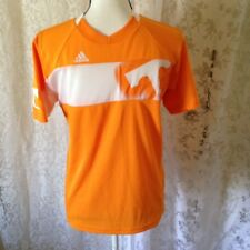 Lg 14/16 Adidas Tennessee Fan Wear Athletic Shirts Orange/white Embroidered Logo