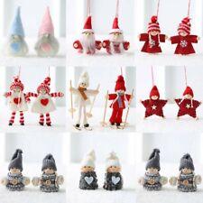 2Pcs Christmas Angel Couple Doll Pendant Xmas Tree Hanging Decor Party Ornament