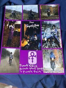 Prince Purple Rain signed photo stunts