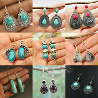 Women's Silver 925 Retro Gifts Moonstone Handmade Earring Jewelry Earrings