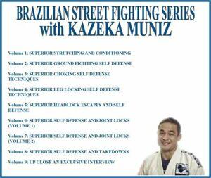 BRAZILIAN STREET FIGHTING Instructional Series (9) DVD Set bjj grappling mma